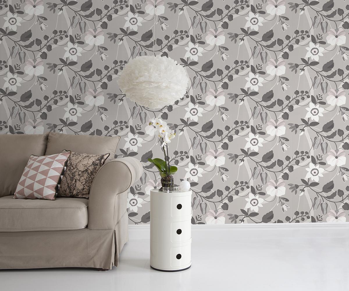 Floral beige decor maison for Decoration maison nature